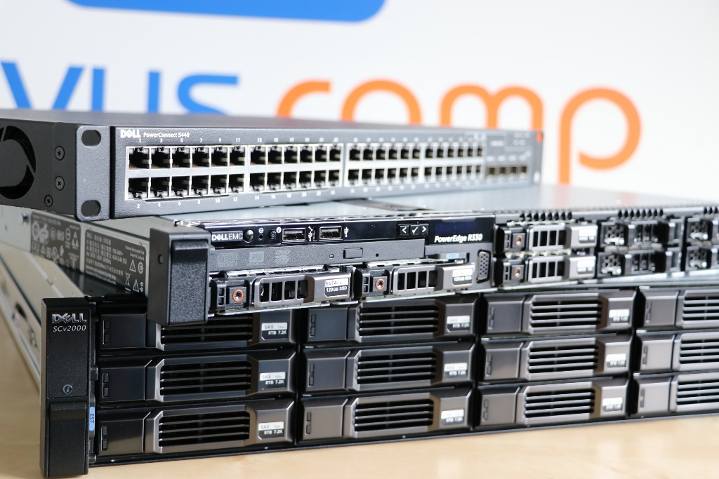 Macierz Dell Compellent SC2000, Serwer PowerEdge R330, przełącznik switch Dell 5448 Servus Comp