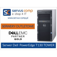 SERWER OUTLETOWY POWEREDGE T130 HDD 1TB 8GB RAM OBUDOWA TOWER